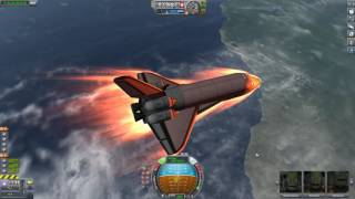 Reentry in a shuttle in KSP