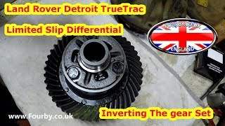 Land Rover Differential: Making A Rear Detroit TrueTrac into a Front, Inverting the gears