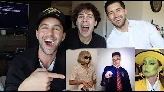 REACTING TO CELEBRITY HALLOWEEN COSTUMES ft David Dobrik and JEFF!!