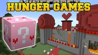 Minecraft: RED QUEEN'S CASTLE HUNGER GAMES - Lucky Block Mod - Modded Mini-Game