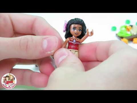 LEGO DISNEY MOANA 's Ocean Voyage build set Time Lapse review 41150 | Maui Te Fiti Oceania