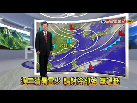 2021/1/12 週三清晨雲少 輻射冷卻強 氣溫低-民視新聞