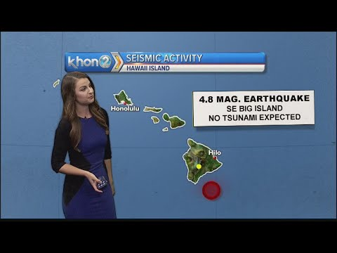 No tsunami threat after 4.4 magnitude earthquake strikes Big Island