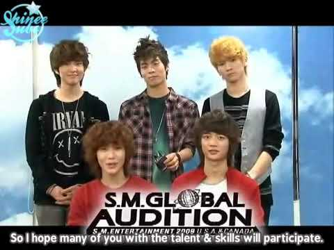 {SHINeeSubs} 091010 2009 SM Global Audition - Message from SHINee