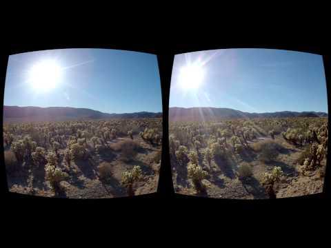 Oculus Rift 3D FPV Quadcopter - Joshua Tree Cactus Garden