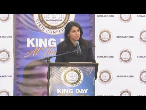 Tulsi Gabbard speaks at King Day rally in Columbia, SC: full video