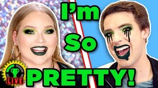 Make Me BEAUTIFUL! | We Tried Following A NikkieTutorials Makeup Tutorial