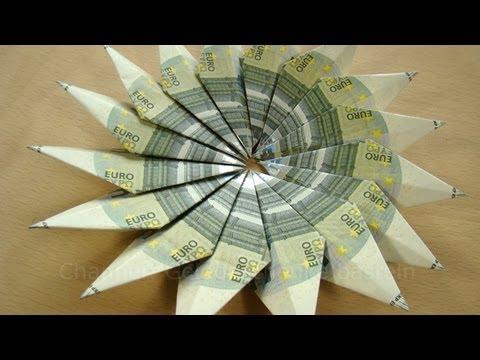 Geldscheine Falten Blume Z B Weihnachten Hochzeit Geburtstag