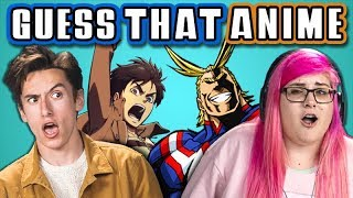 GUESS THAT ANIME CHALLENGE with TEENS & COLLEGE KIDS (React)