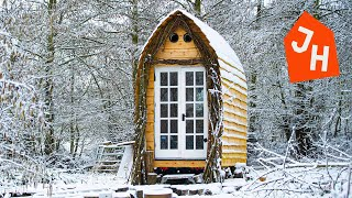 TIMELAPSE - Young Man Gets Laid off and Builds Tiny House CABIN from scratch.