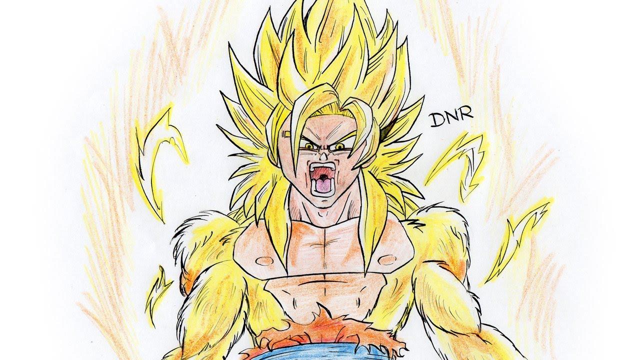 Dibujos Para Colorear De Goku Fase Dios: Dibujos De Goku Fase Dios