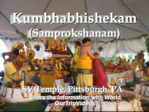 Pictures of Kumbhabhishekam Celebrations - SV Temple, Pittsburgh, PA, US