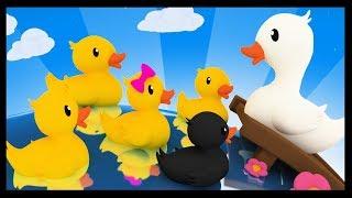 Cinq petits canards - Comptines et chansons pour les enfants - Titounis