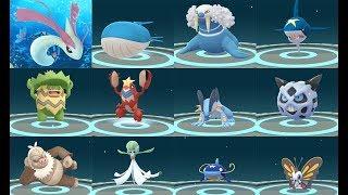 EVOLUTION 12 POKÉMON GO GEN 3 WATER -TYPES & ICE-TYPES