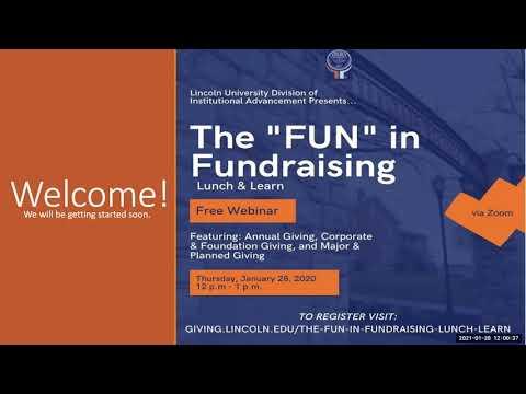 The Fun in Fundraising Lunch & Learn Webinar