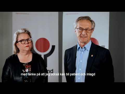 Tack från Denise Norström, regionstyrelsens ordförande, och Tomas Högström, oppositionsråd.