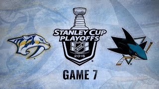 Sharks advance with 5-0 win against Preds in Game 7