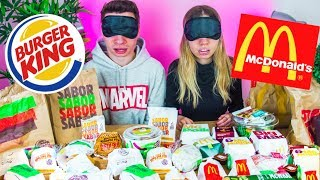 TEST a CIEGAS **McDonalds vs Burger King**!! Probando TODO el Menú (Fast Food Test)