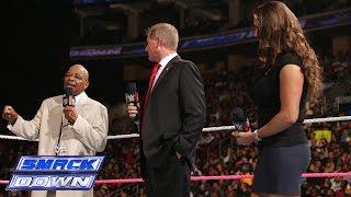 Theodore Long, Stephanie McMahon and John Laurinaitis create history: SmackDown, Oct. 10, 2014
