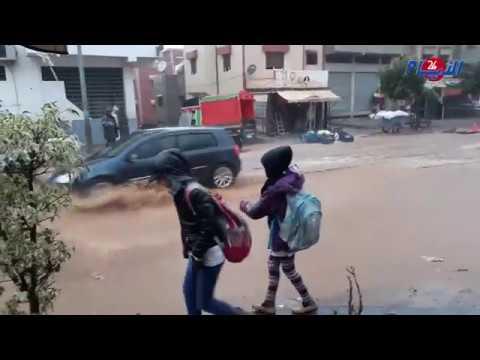 رياح وأمطار قوية بمدينة سلا