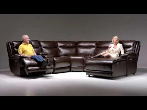 Supernova Power Reclining Sectional | Bob's Discount Furniture