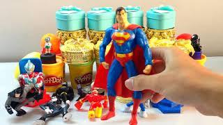 04 Colors Play Doh Ice Cream Cups Trolls Play Dough Surprise Toys | Johny Johny Art #27