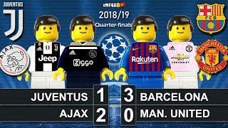 Juventus vs Ajax 1-2 • Barcelona vs Man. United 3-0 • Champions League Goal Highlights Lego Football