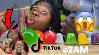 i Tried ASMR... Eating all tiktok jelly fruit Candy @2am AGAIN!!!