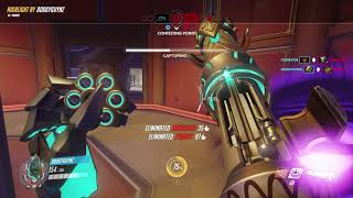 Overwatch - Pharah - Lijiang Tower - double kill and a boop