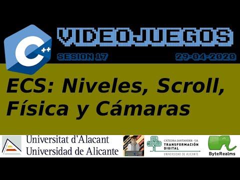 C++: Niveles, Física, Cámara y Scroll [Videojuegos 2. S16. Ing. Multimedia. Universidad Alicante]