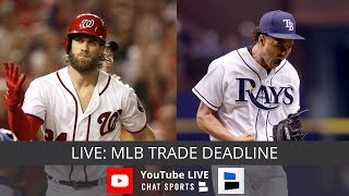 MLB Trade Deadline Live: Trade News On Yankees, Dodgers, Cubs, Red Sox, Bryce Harper, & Chris Archer