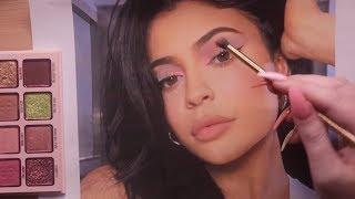 ASMR Putting Kylie Cosmetics on Kylie Jenner (makeup application)