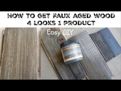 DIY WEATHERED AGED WOOD USING GLAZE \ Momma From Scratch