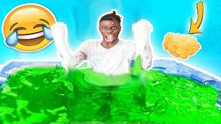 5000 POUNDS OF FLUFFY SLIME IN POOL CHALLENGE! (MUST WATCH) **DIY HOW TO MAKE MEGA FLUFFY SLIME**