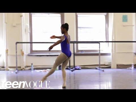 Behind-the-scenes with teen ballerina Michaela DePrince on the set of her Teen Vogue shoot