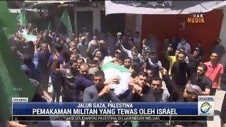 Pemakaman 13 Militan Hamas yang Tewas Akibat Serangan Udara Israel