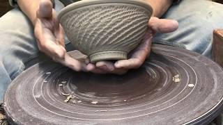 Pottery - Trimming & Chattering a bowl