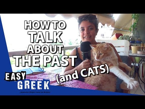 How to talk about the past in Greek (feat. Maalouf the cat) | Super Easy Greek 18 photo