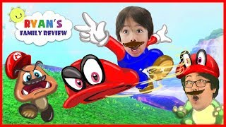 Ryan and Daddy play new Mario Odyssey on Nintendo Switch! Let's play Super Mario Adventure!