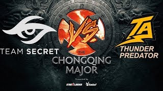 SECRET VS THUNDER Resumen Game 2 The Chongqing Major 2019 BO3