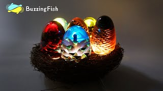 🏮 Amazing Night LAMP From Resin and Pine Cones  / Resin Dragon Egg | Resin ART 🏮