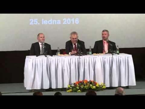 Tomio Okamura: Členka naší SPD krásně pozdravila prezidenta Zemana