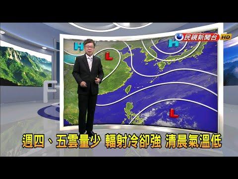 2021/1/13 週四、五雲量少 輻射冷卻強 清晨氣溫低-民視新聞