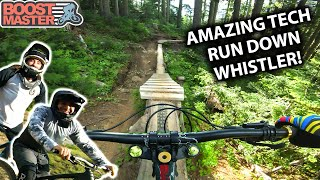AMAZING RUN DOWN WHISTLER with Seths Bike Hacks and Singletrack Sampler | Jordan Boostmaster