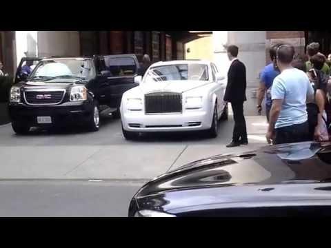 Drake & crew leaving hotel downtown Toronto ...