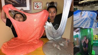 MAKING SLIME AT THE GREAT WOLF LODGE INDOOR WATER PARK - MAKING GIANT FLUFFY SLIME