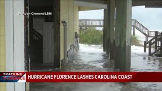 Hurricane Florence begins to pound East Coast