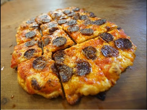Chorizo & Red Pepper Sauce Pizza