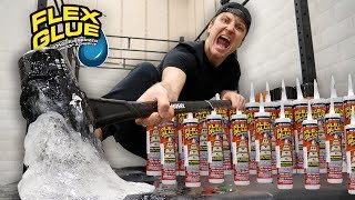 TESTING THE STRONGEST GLUE IN THE WORLD!! (WHAT HAPPENS WHEN YOU MIX FLEX GLUE AND FLEX TAPE)
