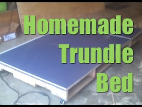 Homemade Trundle Bed Made From Pallets | DIY - YouTube